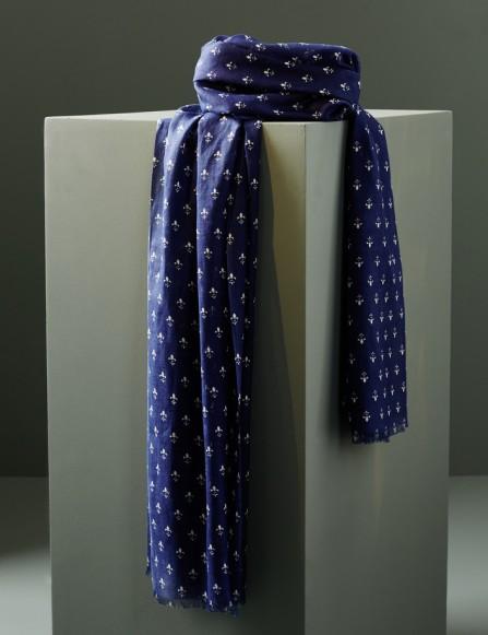 Foulard homme bleu