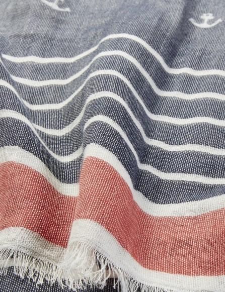 Chèche marin rayé homme coton bio
