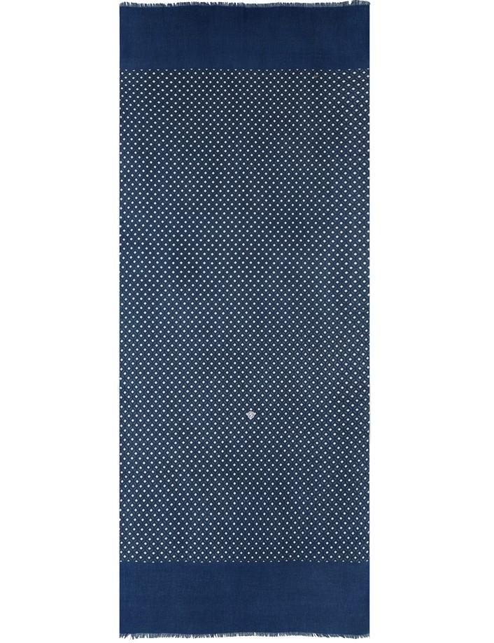 écharpe homme bleu coton bio