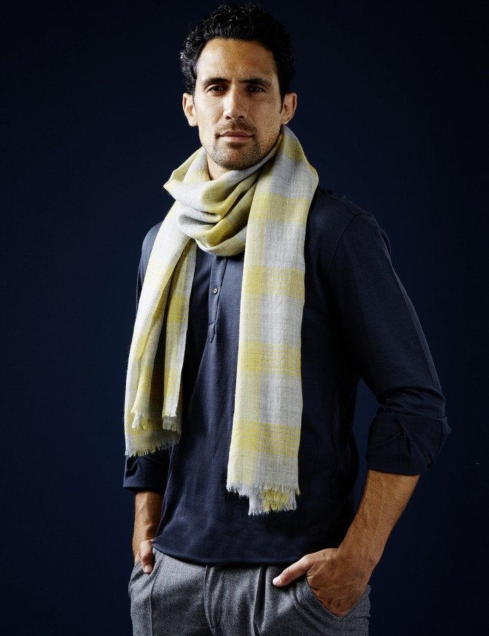 écharpe homme en laine