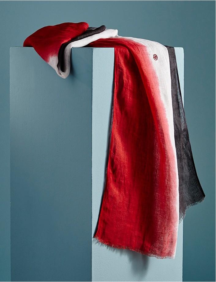 Chèche homme rouge gris blanc, tricolore, accessoire de mode homme