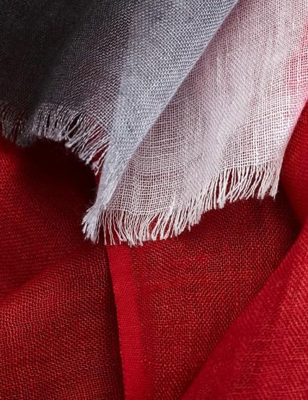 Foulard homme en lin, tie & dye