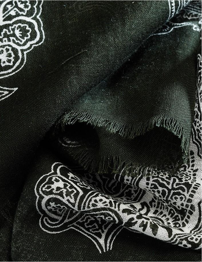 Foulard homme coton bio écharpe homme de marque