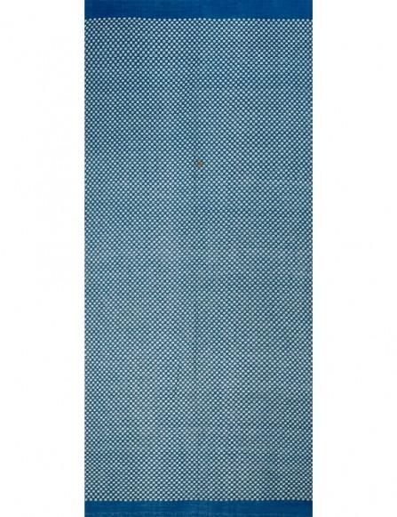 Long chèche bleu homme, accessoire homme raffiné