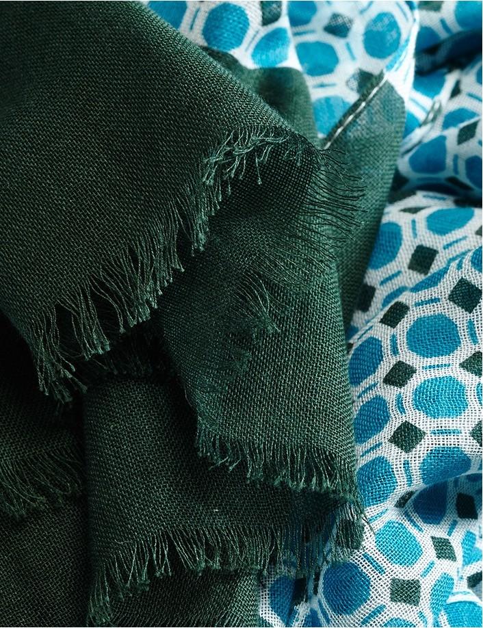 Foulard homme coton bio doux et léger, foulard eco responsable